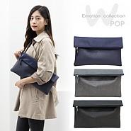 ♥♡TWO B-CLUTCH♥♡nâng cao style với 2 tông màu họa tiết da rắn↑♡♥ Size lớn~túi Clutch thịnh hành♡♥